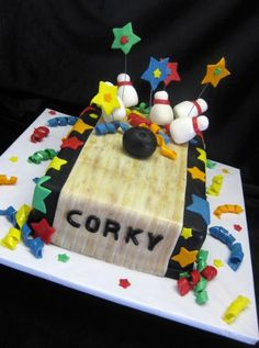Bowling Corky Cake