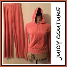 BOGO FREE JUICY COUTURE WIDE LEG TRACKSUIT JUICY COUTURE WIDE LEG TRACKSUIT- PANTS M - TOP L - gorgeous and in fantastic condition ! HAS LITTLE J ON ZIPPERFREE ON ALL CLOTHING ! Just add your listings to a bundle then let me know your done shopping and I will make you a bundle with the free items so you can purchase! IF YOU DO NOT WANT TO DO THE BOGO FREE MAKE AN OFFER WITH THE OFFER BUTTON ! Juicy Couture Tops