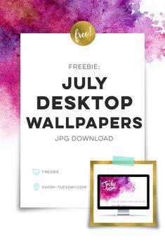 Freebie: July 2017 Desktop Wallpapers