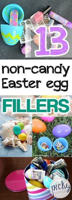 13 Non-Candy Easter Egg Fillers Easter Dinner, Easter Party, Holiday Crafts, Holiday Fun, Easter Holidays, Easter Treats, Egg Hunt, Easter Baskets, Decoration