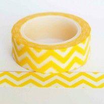 Washi tape chevron AMARELA