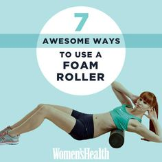 7 Foam Rolling Exercises Your Body Is Begging You To Do 7 Awesome Ways to Use a Foam Roller Fitness Diet, Fitness Motivation, Health Fitness, Women's Health, Fitness Fun, Health Snacks, Health Tips, Health Care, Foam Roller Exercises