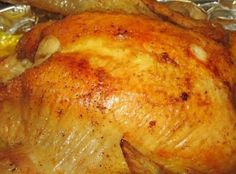 """This is my """"go to"""" recipe for roasting a chicken. It's so easy and it turns out moist and flavorful every time."""