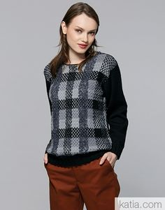 Book Woman Urban 95 Autumn / Winter | 35: Woman Sweater | White / Black / Grey / Light grey / Dark grey White Sweaters, Sweaters For Women, Black And Grey, Dark Grey, Fall Winter, Turtle Neck, Grey Light, Pullover, Pattern