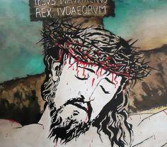 Oleo Jesus en la Cruz por Willan León