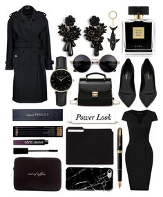 """Empowered"" by numbsunday ❤ liked on Polyvore featuring Sloane Stationery, Yves Saint Laurent, Avon, ROSEFIELD, Ann Taylor, Thom Browne, J.W. Anderson, NYX, Parker and Kate Spade"