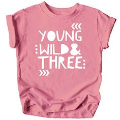 Young Wild and Three Girls Birthday Shirt for Toddler Girls Third Birthday Outfit Olive Loves Apple Toddler Birthday Outfit Girl, 3rd Birthday Party For Girls, Girl Birthday Themes, Dinosaur Birthday Party, Toddler Girls, First Birthday Outfits, Birthday Ideas, Doodles, Birthday Shirts