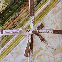 "Island Batik Seven-Up Fabric Stack  10"" square at TCSFabrics #IslandBatik #PrecutFabric #Batik #BatikSquares"