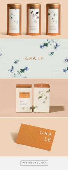 Cha Le Tea on Behance. - a grouped images picture Cha Le Tea on Behance . Flower Packaging, Tea Packaging, Food Packaging Design, Beverage Packaging, Brand Packaging, Branding Design, Tee Design, Label Design, Package Design