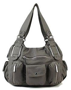 $35.99 Scarleton Double Zipper Washed Shoulder Bag H133624 - Ash - http://freebiefresh.com/scarleton-double-zipper-washed-shoulder-bag-review/