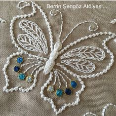 how to do brazilian embroidery stitches Brazilian Embroidery Stitches, Crewel Embroidery Kits, Butterfly Embroidery, Embroidery Stitches Tutorial, Embroidery Transfers, Embroidery Patterns Free, Silk Ribbon Embroidery, Hand Embroidery Designs, Vintage Embroidery