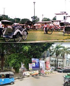 Betjakstandplaats bij Pasar Tjikini te Djakarta, ca 1955, ,., Kantor PD Pasar Jaya, Jl Cikini Raya, Jakarta, 2019 Jakarta, Street View, History, City, Historia, Cities