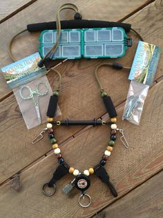 BUNDLE DEAL!!! Lanyard + Fly Box + Forceps + Nippers by GoldenTroutLanyards on Etsy