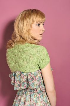 Luxurious lace shrug by Kelly Menzies - FREE to download from Let's Knit!
