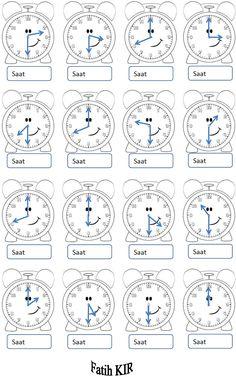 2. Sınıf Matematik Tam Ve Yarım Saatler Okuma Çalışması Etkinliği | Eğitim Destek Sitesi