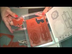 Stampin Up: Tutorial Como hacer mis propios sellos de restos de los que compro, con la Big Shop -TB cómo dar textura a sello plano con un peine YouTube