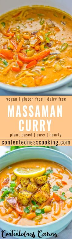 Amazingly mouthwatering Massaman Curry with Roasted Potatoes. Really easy and scrumptious. It's naturally vegan, gluten free and so satisfying. Attempt it now for lunch, meal preparation, work lunch and dinner. Indian Food Recipes, New Recipes, Whole Food Recipes, Dinner Recipes, Cooking Recipes, Dinner Ideas, Vegetarian Roast, Vegetarian Recipes, Healthy Recipes