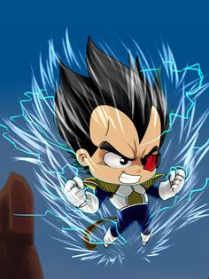 Vegeta, he is so cute. I could just kiss his little cheeks. And he would yell at me. But oh well.