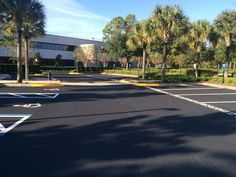 #Sealcoating & #LineStriping Job by the ABC Paving and Sealcoating Team! #ParkingLotMaintenance #Sealcoat #ABCPaveandSeal #LineStripe