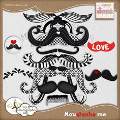 Moustache Me element pack freebie ~ so gonna download this =)