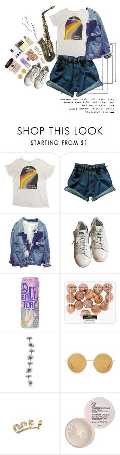 """""""Music expresses that which cannot be put into words and that which cannot remain silent"""" by idkwalsh ❤ liked on Polyvore featuring adidas, Acne Studios, Aamaya by Priyanka, The Body Shop, Lauren Conrad, Le Labo, music and saxophone"""