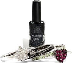 """Black Diamond Nail Polish"" by Azature. The most expensive nail polish in the world!!!"