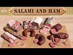 salami and meats ✔ КОЛБАСА салями и ветчина из полимерной глины / Polymer clay salami and ham - YouTube