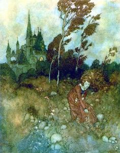 """Edmund Dulac's art was so exotic and dreamlike for a little child in Bridgeport Ct. ... luckily for me they were included in a book collection of stories """"Adventures in Storytelling"""" my parents had bought from a door to door salesman back in the day........."""