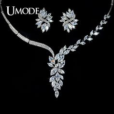 UMODE Luxury Jewelry Sets White Gold Color Marquise Cut AAA CZ Flower Earrings & Necklace For Women Bijoux Price history. Cute Jewelry, Women Jewelry, Jewelry Shop, Jewlery, Jewelry Design, Flower Earrings, Stud Earrings, Flower Stud, Fashion Accessories