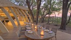 A hotel in the Okavango Delta, Botswana, shows just what can be achieved in spite of location, planning and environmental restrictions. Sandibe Okavango is an eco-lodge built in a UNESCO World Heritage site designed to be sustainable. Despite this, it provides 24 beds of luxury accommodation.