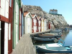 Smogen, Sweden - Smogen, located on the west coast of Sweden, is known as one of the country's most beautiful towns with a relaxed maritime atmosphere along with picturesque fishermen's cottages and boats dotting the landing stage near the water.