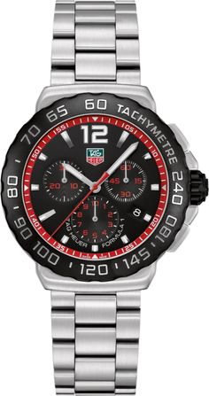 CAU1116.BA0858   NEW TAG HEUER FORMULA 1 MENS QUARTZ WATCH IN STOCK - Hassle free returns thru Jan 31st   - FREE Overnight Shipping | Lowest Price Guaranteed    - NO SALES TAX (Outside California)- WITH MANUFACTURER SERIAL NUMBERS- Black Dial- Chronograph Feature with Laptimer - Battery Operated Quartz Movement- 3 Year Warranty- Guaranteed Authentic  - Certificate of Authenticity- Brushed Steel Case