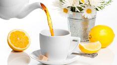 Herbata, Cytryna, Biała, Filiżanka