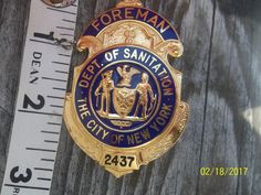 City of New York Department Of Sanitaion Foreman