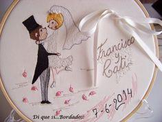 domingo, 1 de junio de 2014      Bastidor bordado porta alianzas - Boda de David y Noemi - ...