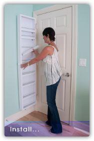 Behind Door Storage installed on door's hinged behind door storage Install the Cabidor Unit