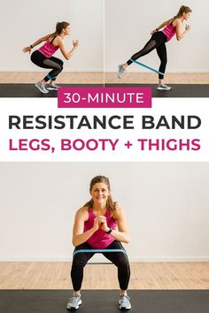 Sculpt your legs with this 30-Minute RESISTANCE BAND Leg workout! Resistance bands are great for glute activation, meaning you get a booty-pumping workout without tons of fancy gym equipment! #legs #legday #lowerbody #resistancebandworkouts Leg Day Workouts, Strength Training Workouts, Body Workouts, Weekly Workouts, Endurance Workout, Training Tips, At Home Workouts, Leg Workout With Bands, Fitness Workout For Women