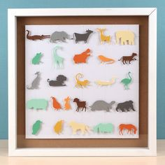 ABC Animals Shadowbox by Paige Evans