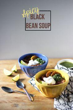 Spicy Black Bean Sou