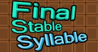 pronunciation reach and final syllables activity This is part four of a lesson in four parts topic: word stress in this segment we finish going through the pronunciation of the 50 states and capitals of the usa some patterns based on syllable.