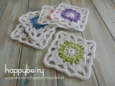 How to Crochet my Vintage Granny Square | Happy Berry Crochet | Bloglovin'