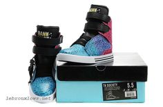 Justin Bieber Supra Shoes For Girls TK Society 2011 Pink Blue White discount as chirstmas gift