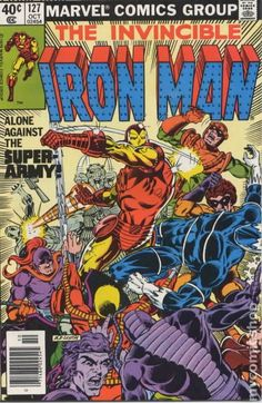 Marvel Comics Retro: The Invincible Iron Man Comic Book Cover Against the Super-Army! by Patrick Zircher Marvel Comics Poster - 61 x 81 cm Iron Man Comic Books, Comic Books Art, Comic Art, Book Art, Tony Stark, Marvel Comics Superheroes, Marvel Heroes, Dc Comics, Marvel Vs