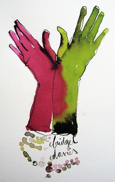 redgreen gloves