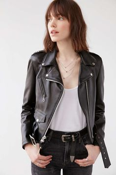 Schott Perfecto Leather Moto Jacket - Urban Outfitters