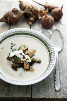 Jordärtskockssoppa med kokosmjölk | Det gröna skafferiet