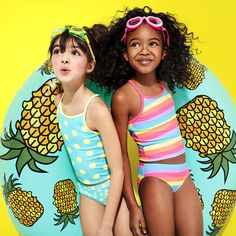 Girls' fashion | Kids' clothes | Swimwear | Tankini | Vacation outfit | The Children's Place