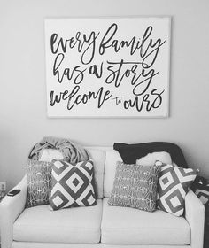 our Every Family has a Story sign just listed - shop link in profile❤️