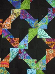 Fun patch, Second Avenue Studio. (Found pattern at comequiltwithme.com. Block finishes 3x6)