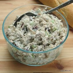 Tarragon Chicken Salad with Cranberries - The Dinner-Mom. I'm going to make it with grapes instead!